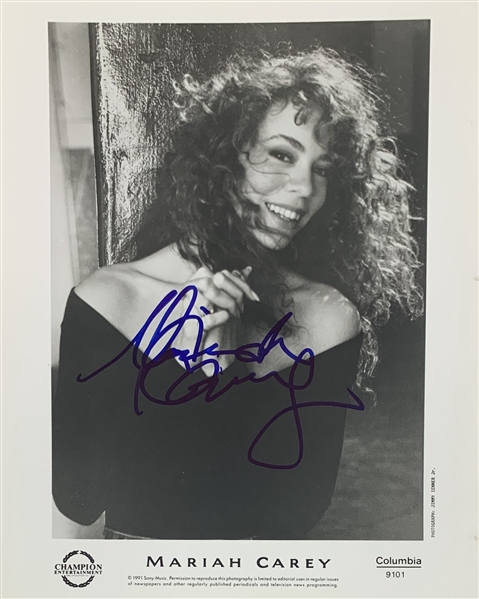 Mariah Carey Signed 8 x 10 Columbia Record Promo Photo with Early Full Autograph! (John Brennan Collection)(Beckett/BAS Guaranteed)