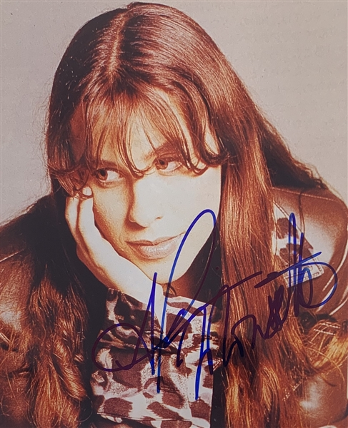 Alanis Morissette Signed 8 x 10 Color Photo (John Brennan Collection)(Beckett/BAS Guaranteed)