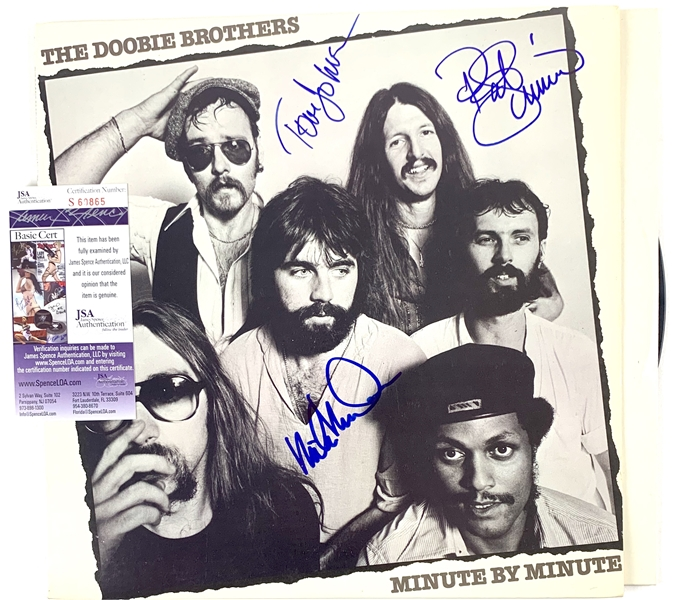 The Doobie Brothers Group Signed Minute by Minute Record Album (JSA)