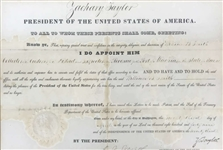 President Zachary Taylor Signed 1849 Appointment Document (Beckett/BAS)