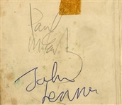 "Beatles Song Writers: John Lennon & Paul McCartney Dual Signed 3.5"" x 4.5"" Album Page (Tracks)"