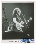 "Grateful Dead: Jerry Garcia Exceptional Signed On-Stage 8"" x 10"" Promotional Photograph (JSA)"