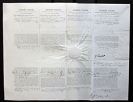 Zachary Taylor RARE Signed 4-Language Ships Papers as President (1849)(BAS/Beckett)