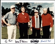 "Ultra Rare Signed ""The Presidents & Bob Hope"" 8"" x 10"" Color Photo w/ Clinton, Bush & Ford! (PSA/DNA)"