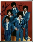 "The Jackson Five Group Signed 8"" x 10"" Color Photograph w/ All Five Members! (Beckett/BAS)"