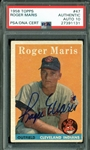 1958 Topps Roger Maris Signed Rookie Card with PSA/DNA Graded GEM MINT 10 Autograph!