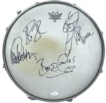 Cheap Trick Group Signed Bun E. Carlos Stage Used Snare Drum w/ Sticks & Gloves! (JSA & Bun E. Carlos LOA)