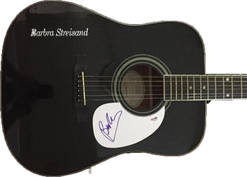 Barbara Streisand Signed Acoustic Guitar (PSA/DNA)
