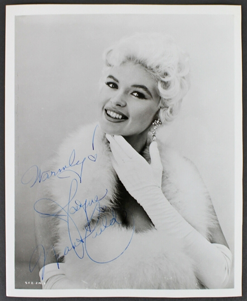 Jayne Mansfield Signed Stunning 8 x 10 Vintage Portrait Photograph (BAS/Beckett)