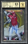 Mike Trout Signed 2016 Topps High Tek Gold Rainbow /50 Card Beckett BGS 9.5 10!