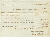 President James Buchanan Signed & Hand Written 1836 Letter To His Sister! (Beckett/BAS Guaranteed)