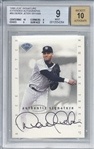 Derek Jeter Signed 1996 Leaf Signatures Extended Autographs /1000 Rookie Card Beckett/BGS 9 w/ 10 Auto!