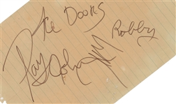 "The Doors ULTRA-RARE Group Signed 4.5"" x 6"" Album Page w/ Jim Morrison & Others! (Beckett/BAS)"