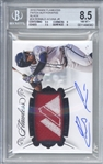 Ronald Acuna Jr. Signed 2018 Panini Flawless Black ONE of ONE Rookie Card! Beckett/BGS 8.5 w/ 10 Auto!