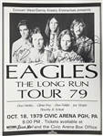 "Eagles Rare Group Signed 20"" x 27"" Original 1979 ""The Long Run"" Tour Concert Poster w/ All Five Members! (Beckett/BAS Guaranteed)"