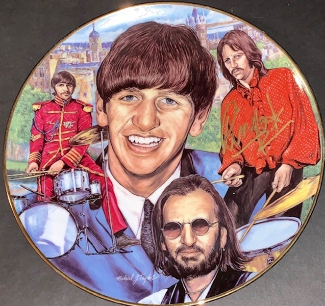 The Beatles: Ringo Starr Signed Limited Edition Artist Proof Gartlan Plate (ACOA)