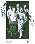 "The Eagles Group Signed 8"" x 10"" Promotional Asylum Photograph w/ All Five Members! (REAL/Epperson)"