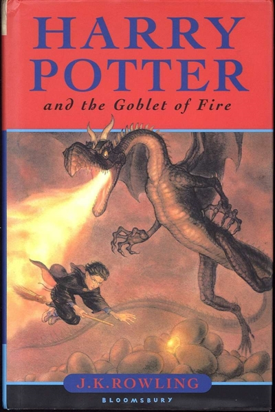 Harry Potter: J.K. Rowling Rare Signed First U.K. Edition Harry Potter & the Goblet of Fire Book (JSA)