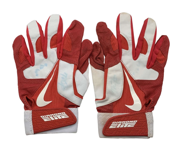 Mike Trout Game Used/Worn & Signed 2012 Rookie Batting Gloves (Anderson Authentics & Beckett/BAS))