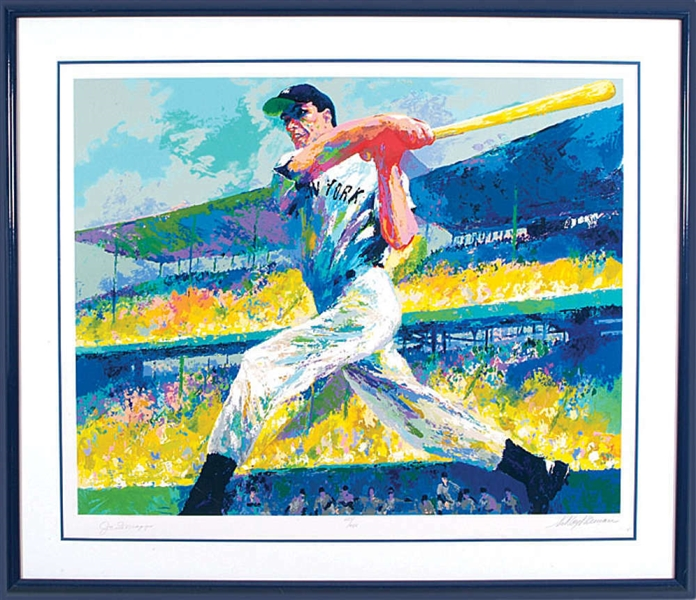 Joe DiMaggio & LeRoy Neiman Signed The Cut Limited Edition Serigraph (Beckett/BAS Guaranteed)
