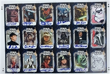 "2008 Star Wars Fan Days Official Pix Uncut 19"" x 25"" Trading Card Sheet (Beckett/BAS Guaranteed)"