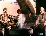 "Alec Guinness and Anthony Daniels Signed 8"" x 10"" Color Photograph (Beckett/BAS)"