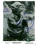 "Yoda Cast Signed 8"" x 10"" TESB Promotional Photograph w/ Oz, McQuarrie & Others! (Beckett/BAS Guaranteed)"