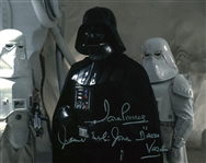 "Dave Prowse and James Earl Jones  Signed 8"" x 10"" Darth Vader Photograph (Beckett/BAS Guaranteed)"