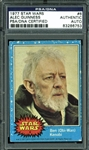 Alec Guinness RARE Signed 1977 Star Wars #6 Trading Card (PSA/DNA)