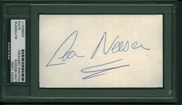 "Star Wars: Episode I – The Phantom Menace: Liam Neeson Vintage Signed 3"" x 5"" Index Card (PSA/DNA Encapsulated)"