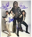"A New Hope: Cast Signed 12"" x 14"" Photo from Rolling Stone Photo Shoot with Ford, Fisher, Hamill & Mayhew (Beckett/BAS Guaranteed)(Steve Grad Collection)"