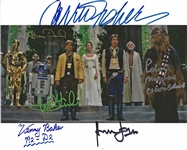 "A New Hope: Cast Signed 8"" x 10"" Color Photo from Royal Award Ceremony (Beckett/BAS Guaranteed)(Steve Grad Collection)"