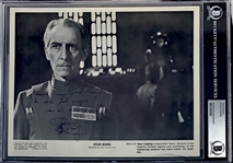 "A New Hope: Peter Cushing (Grand Moff Tarkin) Rare Signed 8"" x 10"" Official Press Photo (Beckett/BAS Encapsulated)(Steve Grad Collection)"