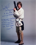 "Mark Hamill Signed 8"" x 10"" Color Photo as Luke Skywalker with Amazingly Detailed Inscription (Beckett/BAS Guaranteed)(Steve Grad Collection)"