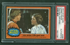 Carrie Fisher Vintage Signed 1977 Star Wars #299 Trading Card (PSA/DNA)