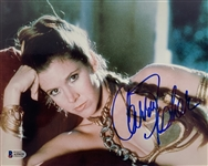 "Carrie Fisher Signed 8"" x 10"" Slave Leia Photograph (Beckett/BAS)"