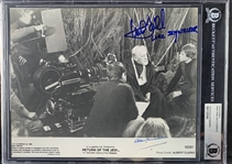 "Sir Alec Guinness & Mark Hamill ULTRA RARE Signed ""Return of the Jedi"" 8"" x 10"" Publicity Photograph (Beckett/BAS Encapsulated)(Steve Grad Collection)"
