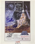 "A New Hope Cast Signed 9"" x 12"" Empire Magazine Ad with Guinness, Ford, Fisher, Hamill, etc. (8 Sigs)(Beckett/BAS Guaranteed)(Steve Grad Collection)"