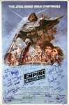 "The Empire Strike Back Impressive 27"" x 41"" Full Size Style ""B"" One Sheet Movie Poster with 26 Autographs Incl. Ford, Fisher, Hamill and more! (Beckett/BAS Guaranteed)(Steve Grad Collection)"