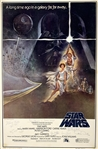 "A New Hope Amazing Original 27"" x 41"" One-Sheet Style ""A"" Movie Poster Signed by Ford, Fisher, Hamill, etc. (7 Sigs)(Beckett/BAS Guaranteed)(Steve Grad Collection)"