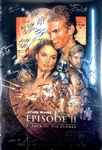 """Episode II: Attack of the Clones"" Incredible Cast Signed 27"" x 40"" Movie Poster with 49 Autographs! (Beckett/BAS Guaranteed)(Steve Grad Collection)"
