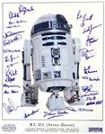 "R2-D2 Amazing Multi-Signed 16"" x 20"" Color Photograph Featuring 23 Key Creators & Designers! (Beckett/BAS Guaranteed)(Steve Grad Collection)"