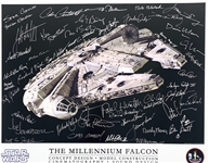 "The Minds of the Millennium Falcon: 16"" x 20"" Color Photo Signed by Forty-Eight (48) ILM Designers & Creators! (Beckett/BAS Guaranteed)(Steve Grad Collection)"