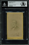 Robert E. Lee Rare Signed Engraved CDV Photograph (BAS/Beckett Encaspulated)