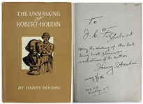 "Harry Houdini Signed & Inscribed First Edition Book: ""The Unmasking of Robert Houdin"" (Beckett/BAS Graded MINT 9)"