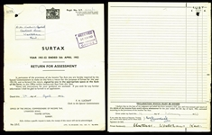 Winston Churchill Signed 1953 Tax Return Document (BAS/Beckett)