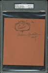 "Maurice Sendak RARE Signed & Hand-Drawn ""Carol"" Sketch - PSA/DNA Graded GEM MINT 10!"