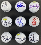 Golf Greats Signed Golf Ball Lot (9) with Trevino, Goalby, Lopez, etc. (Beckett/BAS Guaranteed)