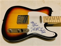 "James Brown Signed Telecaster Style Electric Guitar with ""I Feel Good"" Inscription! (John Brennan Collection)(Beckett/BAS Guaranteed)"