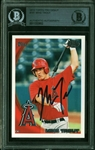 Mike Trout Signed 2010 Topps Pro Debut Rookie Card with Desirable Rookie Era Autograph (Beckett/BAS Encapsulated)